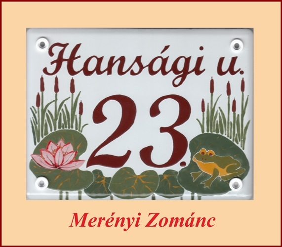 Házszámtábla 127