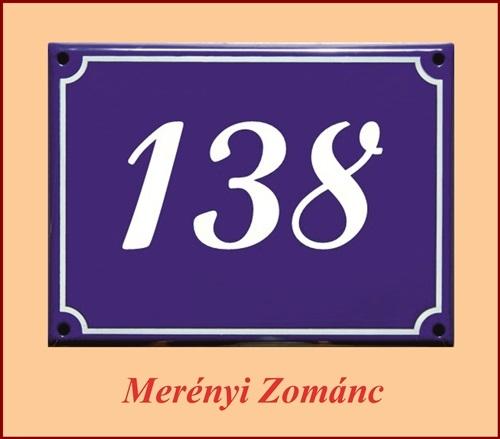 Házszámtábla 135