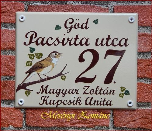 Házszámtábla 221