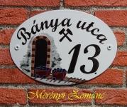 Házszámtábla 168